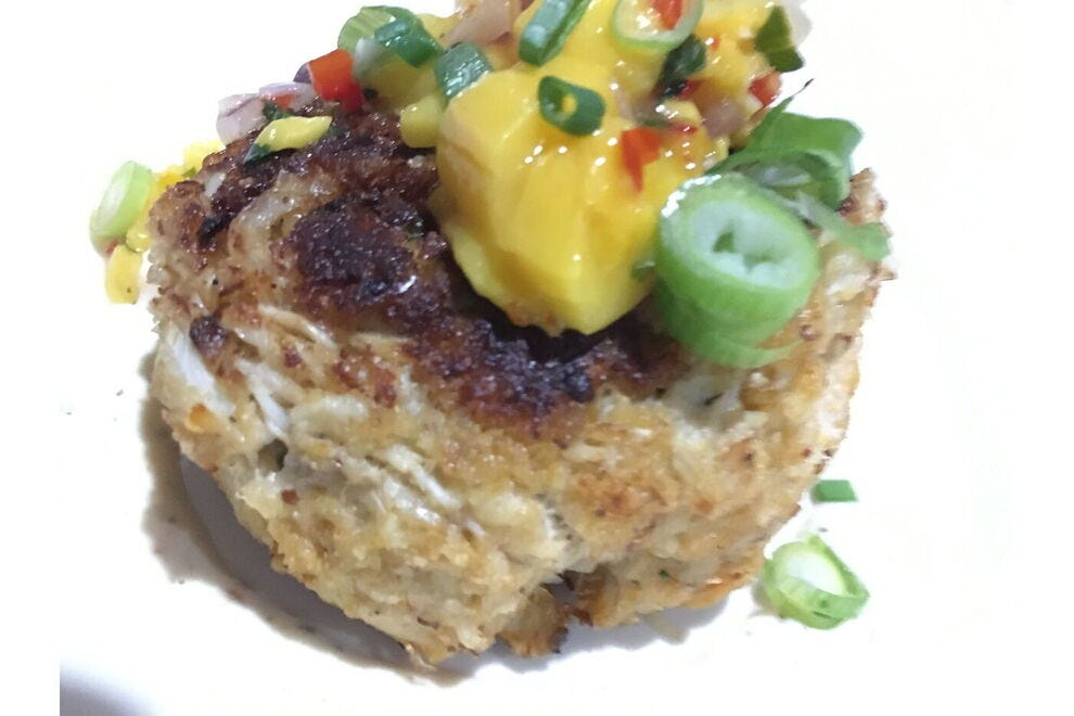 Take a bite of the most divine crab cake ever at Galleon