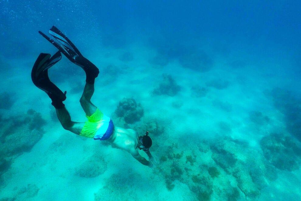 Underwater discoveries abound here