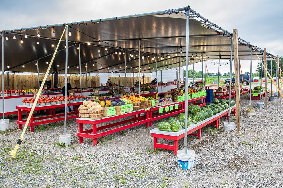 Southwest Michigan's agricultural belt offers countless farm stands