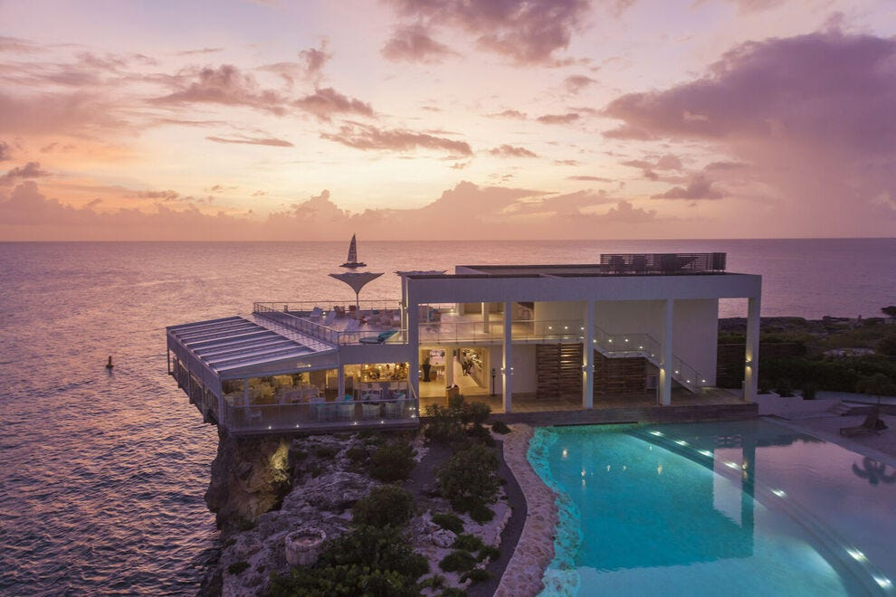 In Sint Maarten, Edge Pool at Sonesta Ocean Point Resort is one of three pools at the upscale adults-only all-inclusive resort