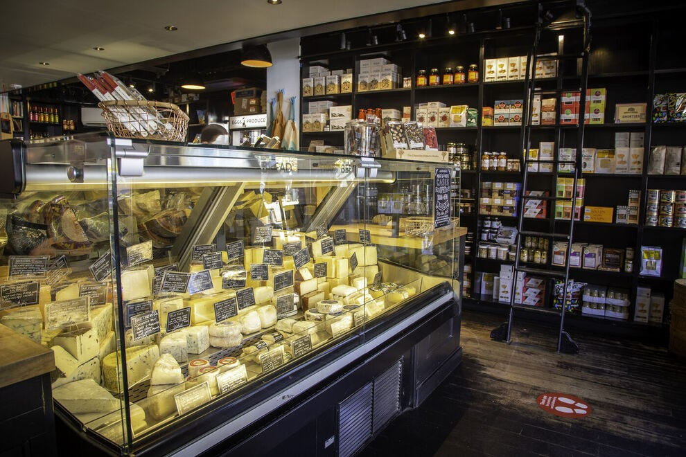 Meat & Cheese is not just a restaurant;  it is also a specialized food store