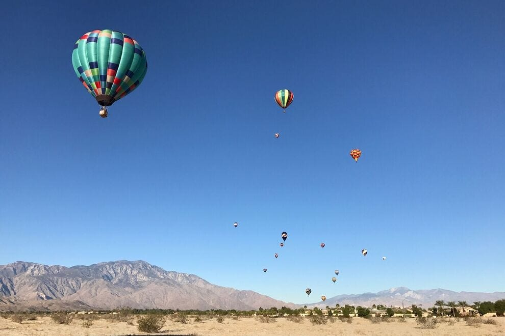 Cathedral City is known for its balloon festival