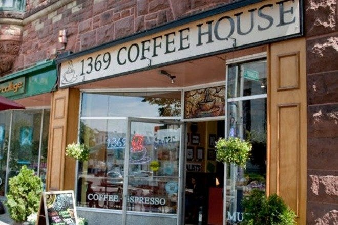 1369 Coffeehouse serves limited breakfast, and sandwiches and salads for lunch.