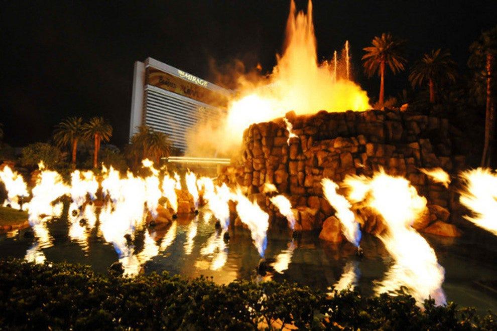 海市蜃楼的火山