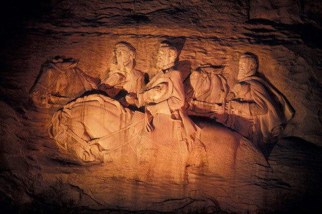 Memorial Carving – The largest stone relief in the world
