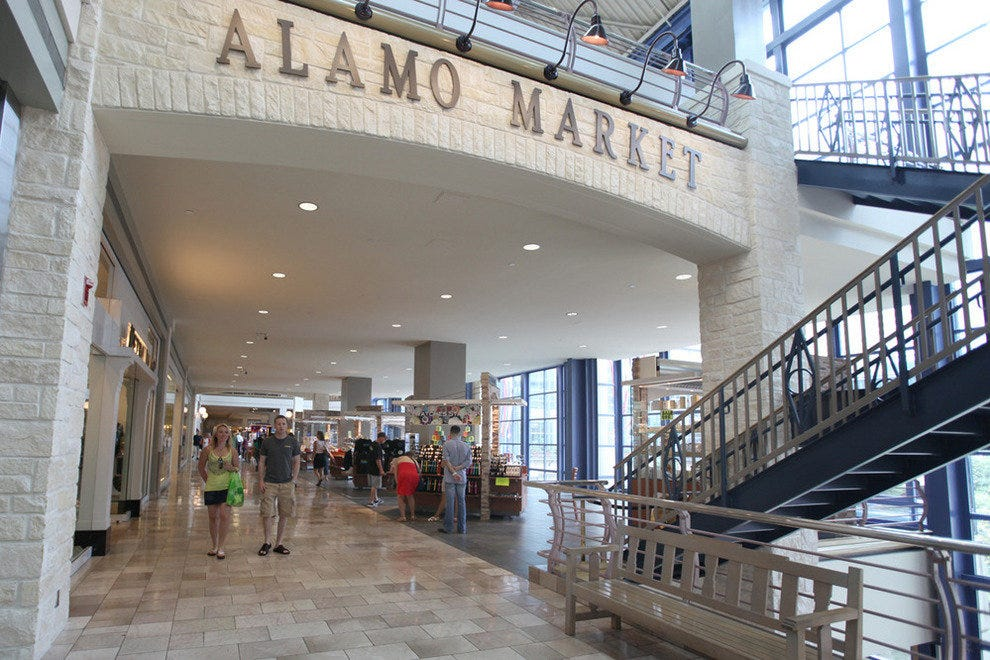 Alamo Quarry Market was constructed on the historic site of Alamo Cement Company. The structural landmarks of this site are integrated into the center's design with the iconic smokestacks.4/4(62).
