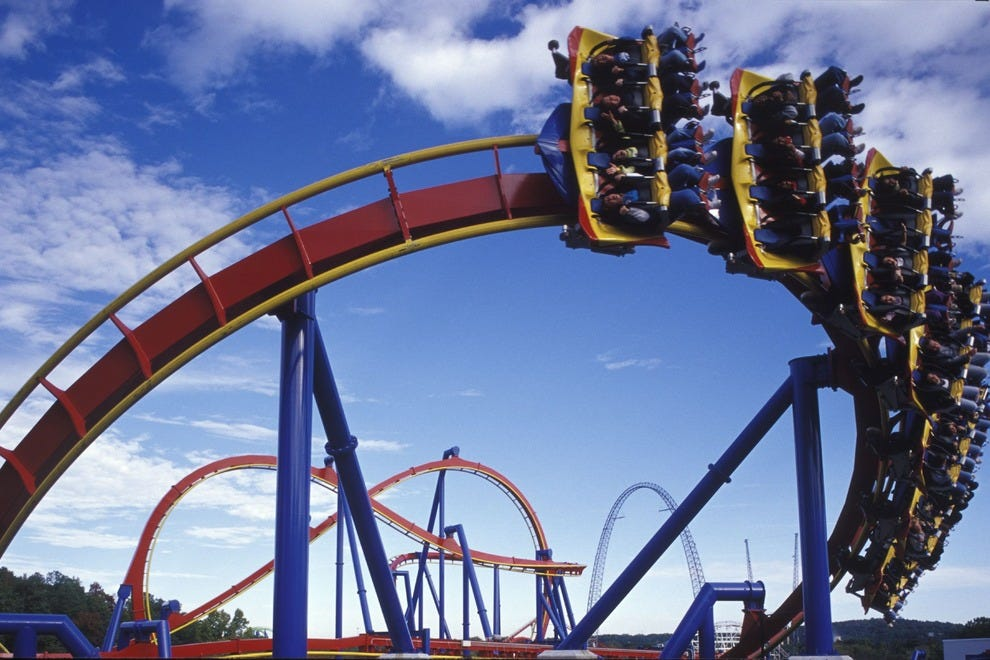 Six Flags Magic Mountain boasts one of the world's largest collections of extreme rides. It doesn't have the cohesive