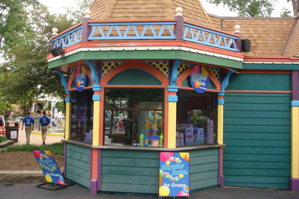 Six Flags Kentucky Kingdom Map Six Flags Kentucky Kingdom