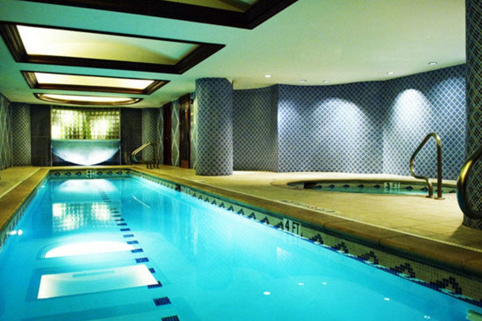 The pool at the InterContinental Stephen F. Austin Hotel is perfect for swimming laps.